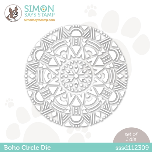 Simon Says Stamp BOHO CIRCLE Wafer Die sssd112309 Love You Too Preview Image