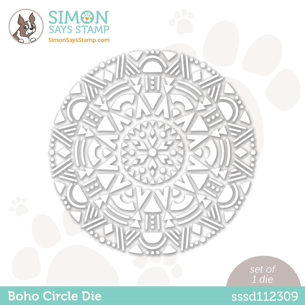 Simon Says Stamp BOHO CIRCLE Wafer Die sssd112309 Love You Too zoom image