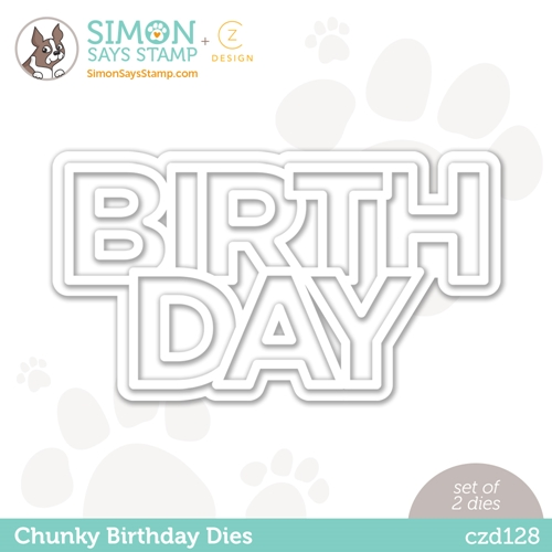 CZ Design Wafer Dies CHUNKY BIRTHDAY czd128 Love You Too Preview Image