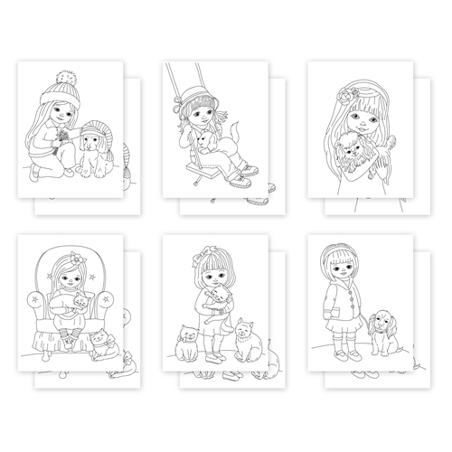 Simon Says Stamp Suzy's PET FRIENDS Watercolor Prints szwc0121pf Love You Too Preview Image