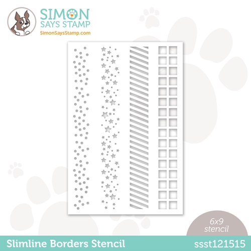 Simon Says Stamp Stencil SLIMLINE BORDERS ssst121515 Love You Too Preview Image