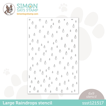 Simon Says Stamp Stencil LARGE RAINDROPS ssst121517 Love You Too