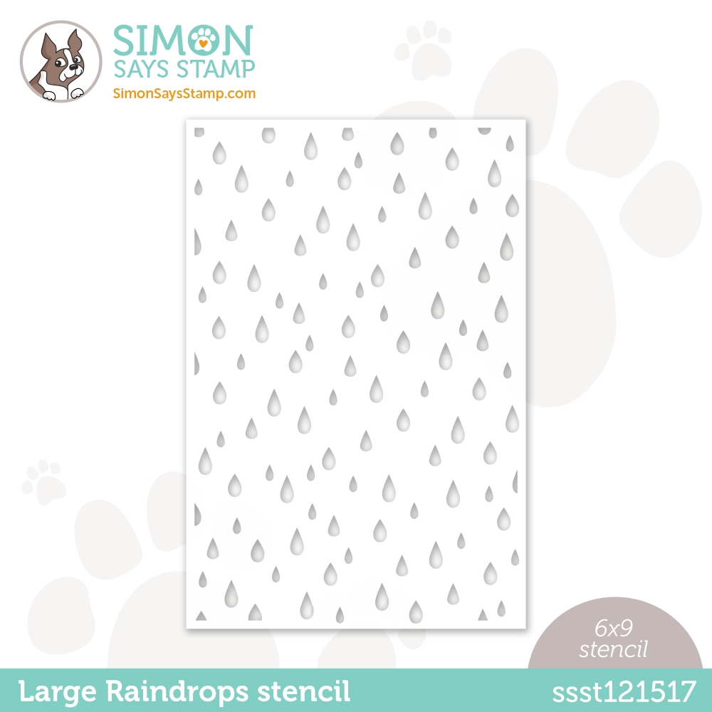 Simon Says Stamp Stencil LARGE RAINDROPS ssst121517 Love You Too zoom image