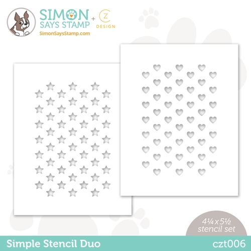 CZ Design Stencils SIMPLE DUO czt006 Love You Too  Preview Image