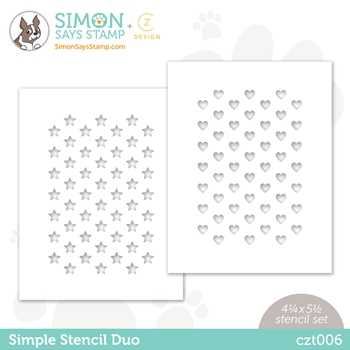 CZ Design Stencils SIMPLE DUO czt006 Love You Too