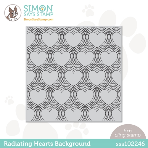 Simon Says Cling Stamp RADIATING HEARTS sss102246 Love You Too Preview Image
