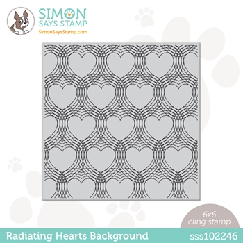 Simon Says Cling Stamp RADIATING HEARTS sss102246 Love You Too