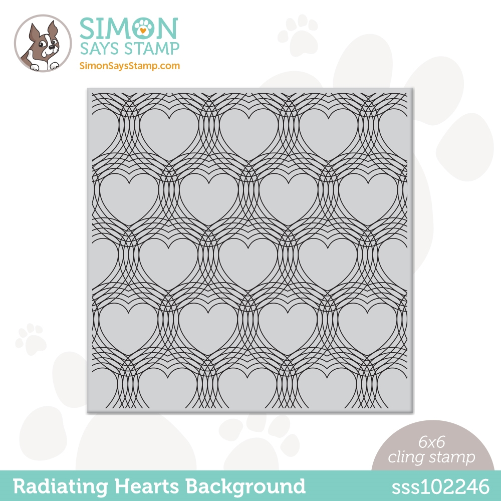 Simon Says Cling Stamp RADIATING HEARTS sss102246 Love You Too zoom image