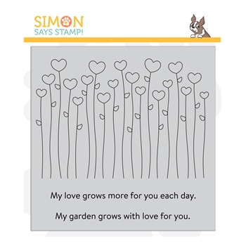 Simon Says Cling Stamp HEART GARDEN sss102249 Love You Too