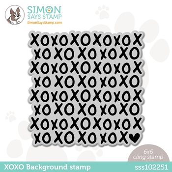 Simon Says Cling Stamp XOXO BACKGROUND sss102251 Love You Too