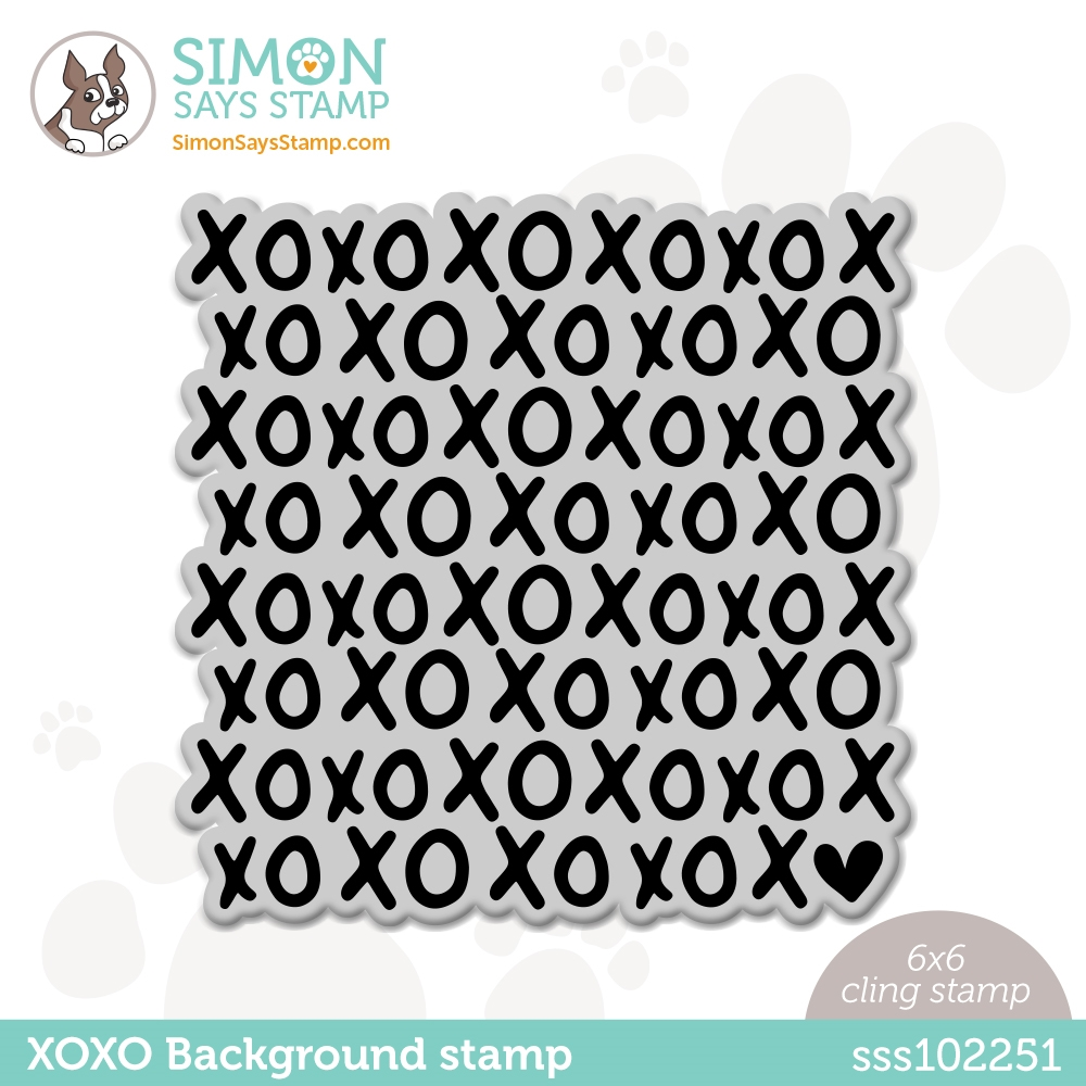 Simon Says Cling Stamp XOXO BACKGROUND sss102251 Love You Too zoom image