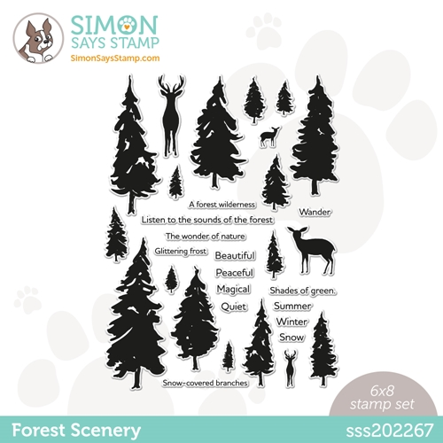 Simon Says Clear Stamps FOREST SCENERY sss202267 Love You Too Preview Image