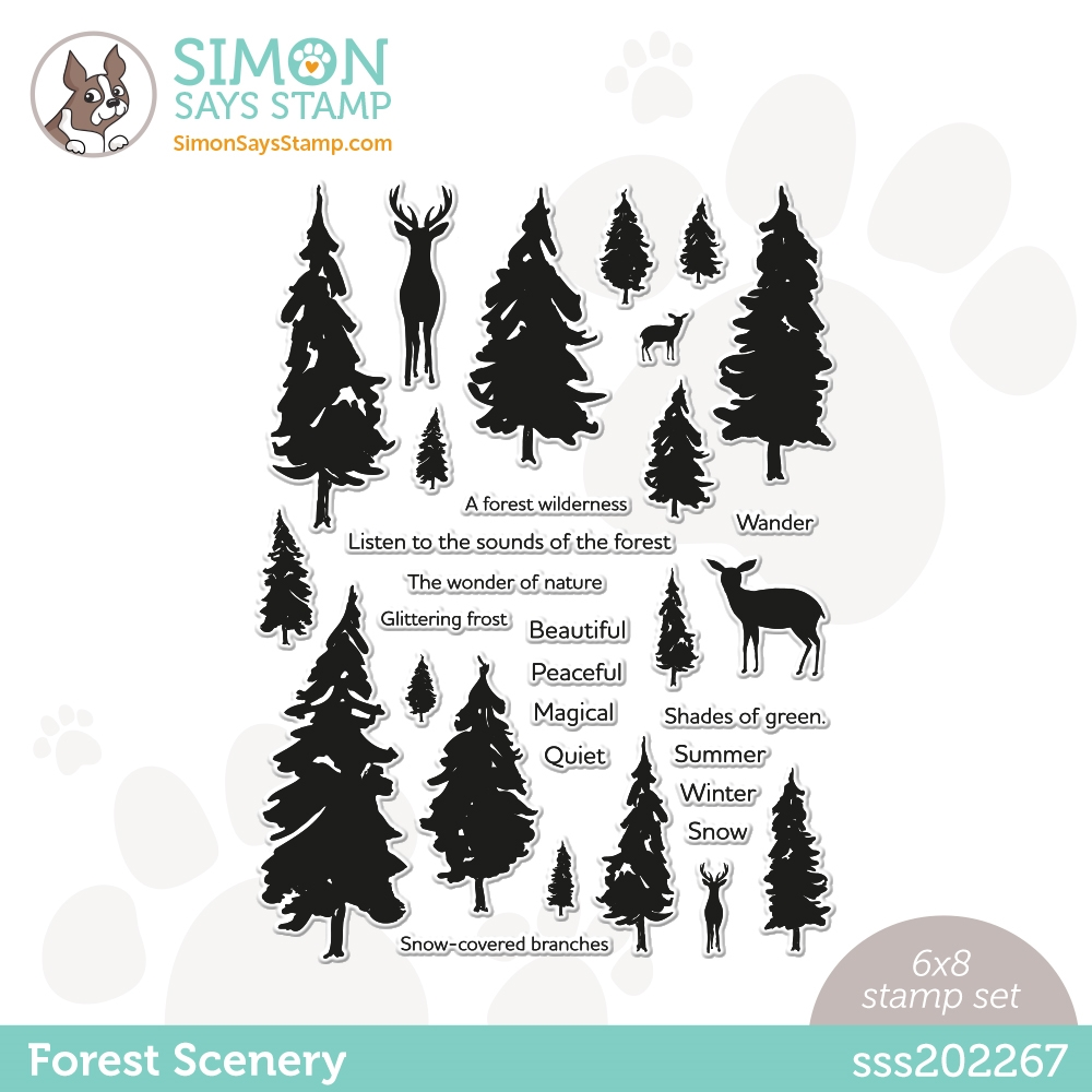 Simon Says Clear Stamps FOREST SCENERY sss202267 Love You Too zoom image