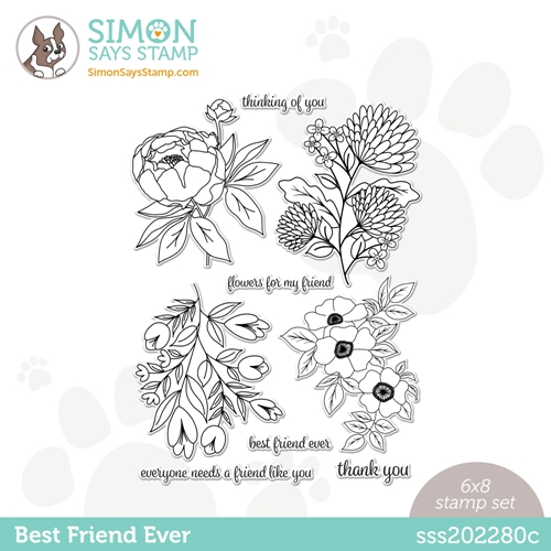 Simon Says Clear Stamps BEST FRIEND EVER sss202280c Love You Too Preview Image