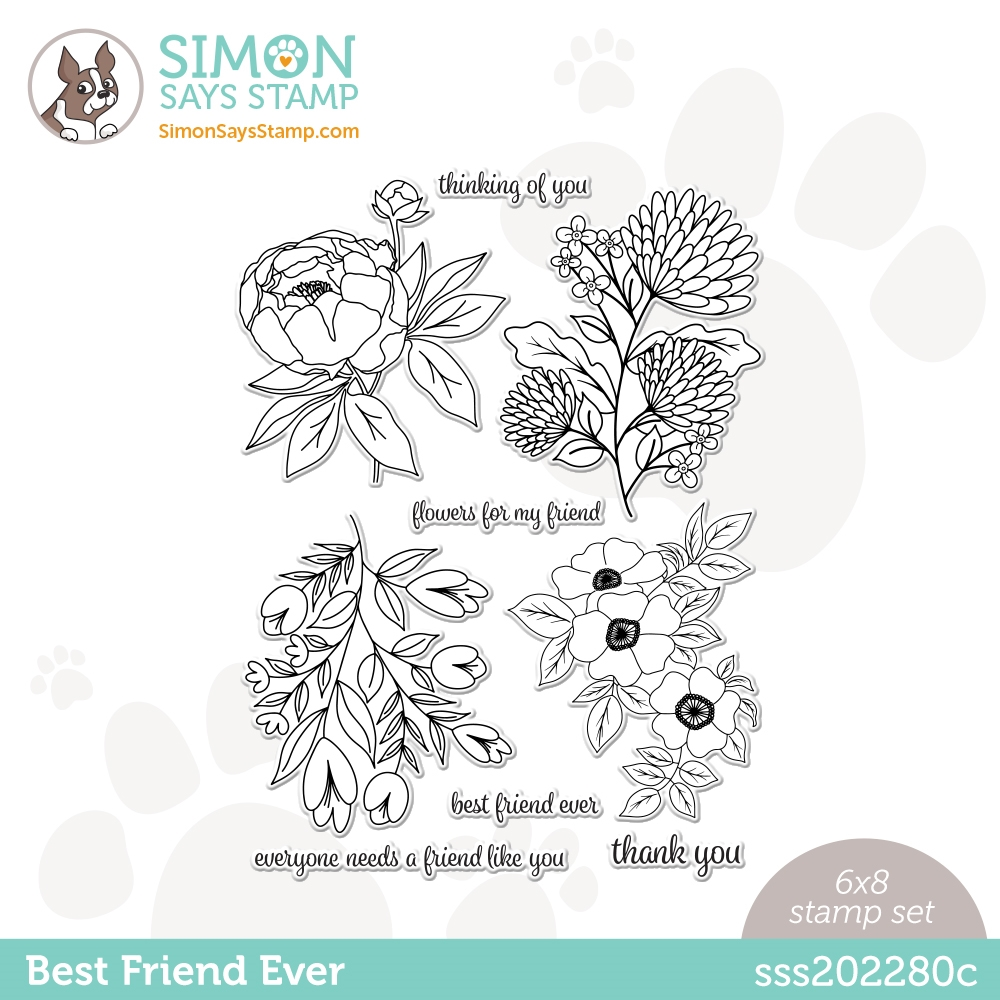 Simon Says Clear Stamps BEST FRIEND EVER sss202280c Love You Too zoom image