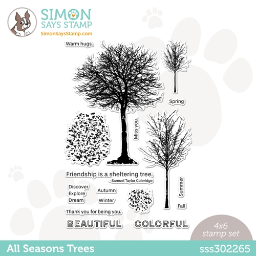 Simon Says Clear Stamps ALL SEASONS TREE sss302265 Love You Too Preview Image
