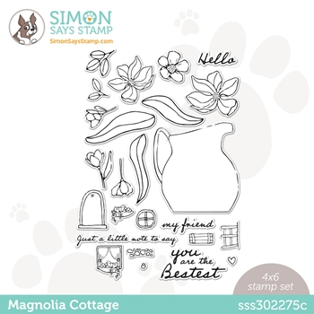Simon Says Clear Stamps MAGNOLIA COTTAGE sss302275c Love You Too