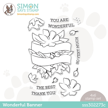 Simon Says Clear Stamps WONDERFUL BANNER sss302273c Love You Too