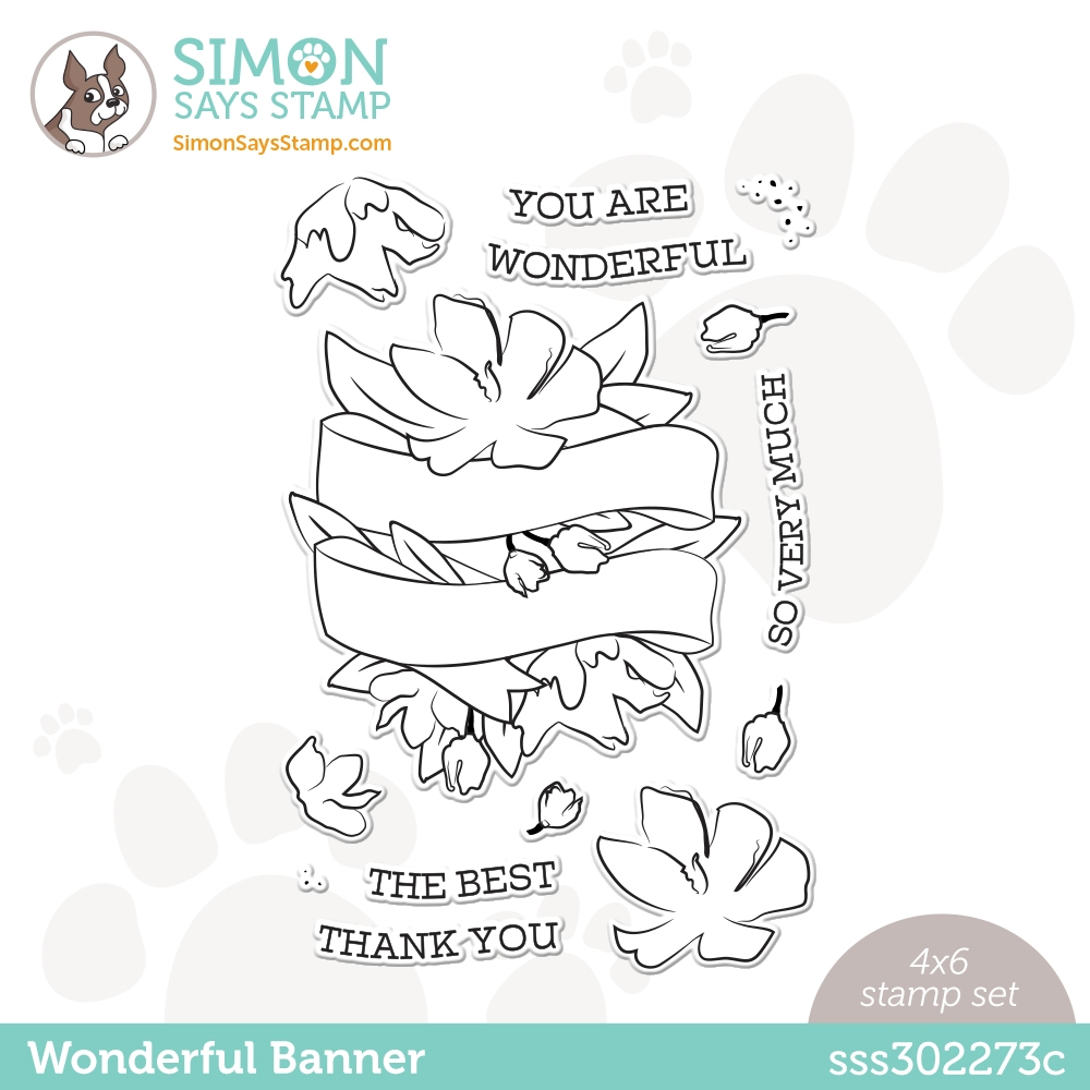 Simon Says Clear Stamps WONDERFUL BANNER sss302273c Love You Too zoom image