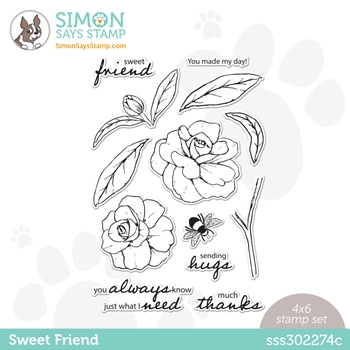 Simon Says Clear Stamps SWEET FRIEND sss302274c Love You Too