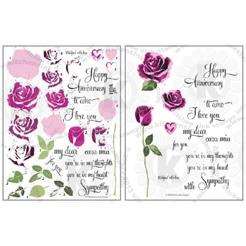 Kitchen Sink Stamps HEART AND ROSES kss078