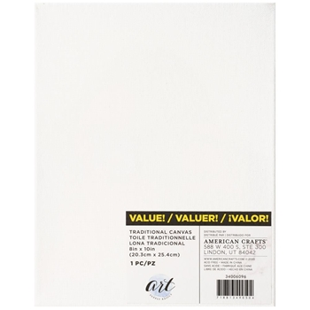 Art Supply Basics TRADITIONAL CANVASES 8 x 10 34006096