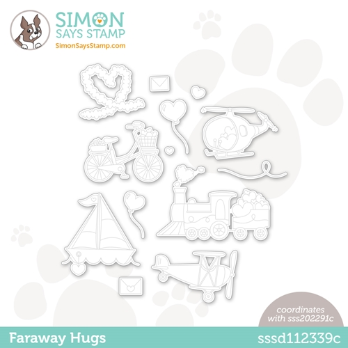 Simon Says Stamp FARAWAY HUGS Wafer Dies sssd112339c Preview Image