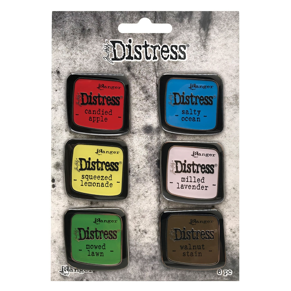 Tim Holtz Distress Enamel Pin SET 5 Ranger tdzs73475 zoom image