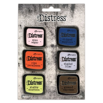 Tim Holtz Distress Enamel Pin SET 6 Ranger tdzs73482