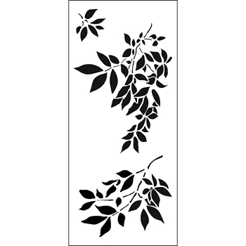 The Crafter's Workshop GENTLE LEAVES Slim Line Stencil tcw2300