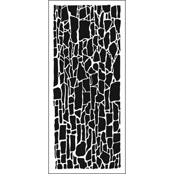 The Crafter's Workshop ROCK WALL Slim Line Stencil tcw2303