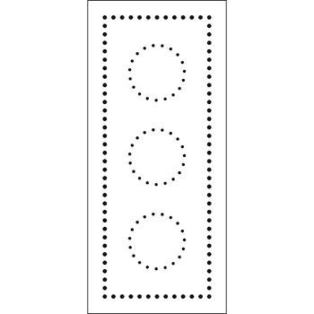 The Crafter's Workshop DOTTED CIRCLE Slim Line Stencil tcw2306