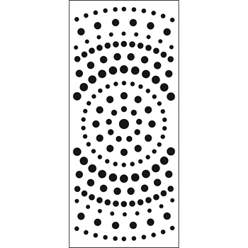 The Crafter's Workshop CONCENTRIC CIRCLES Slim Line Stencil tcw2307