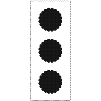 The Crafter's Workshop SCALLOPED CIRCLES Slim Line Stencil tcw2310