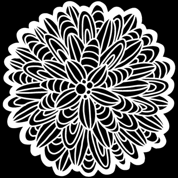 The Crafter's Workshop CACTUS DAHLIA 6x6 Stencil tcw927s
