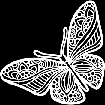 The Crafter's Workshop JOYOUS BUTTERFLY 6x6 Stencil tcw933s*