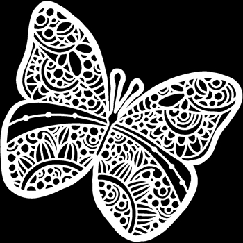 The Crafter's Workshop SUNNY BUTTERFLY 6x6 Stencil tcw934s