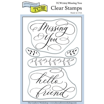 The Crafter's Workshop MISSING YOU Clear Stamps tcw2203