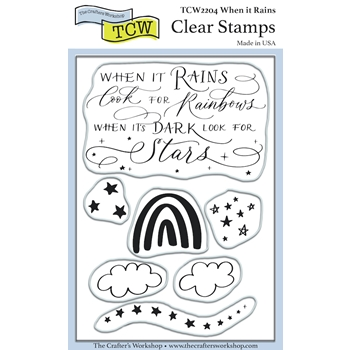 The Crafter's Workshop WHEN IT RAINS Clear Stamps tcw2204*