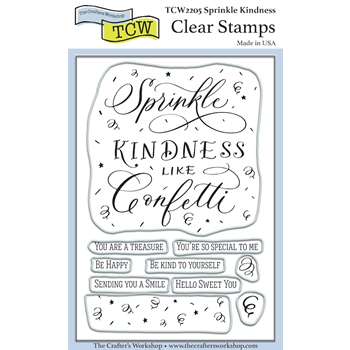 The Crafter's Workshop KINDNESS Clear Stamps tcw2205*