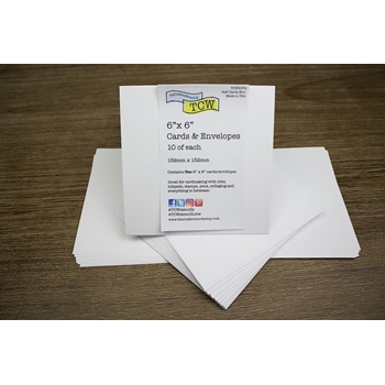 The Crafter's Workshop CARDS AND ENVELOPES 6x6 tcw9079
