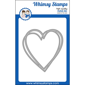Whimsy Stamps CONNECTED HEARTS FRAME Die WSD516