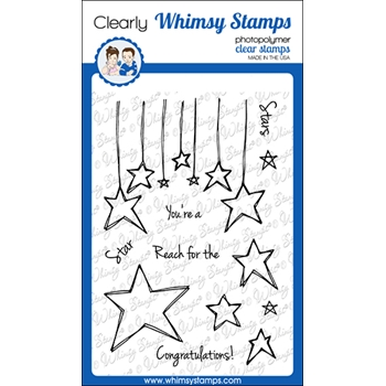 Whimsy Stamps FADOODLE STARS Clear Stamps CWSD356