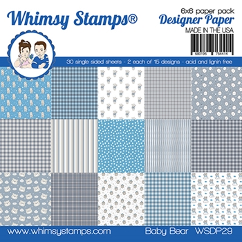Whimsy Stamps BABY BEAR 6 x 6 Paper Pads WSDP29