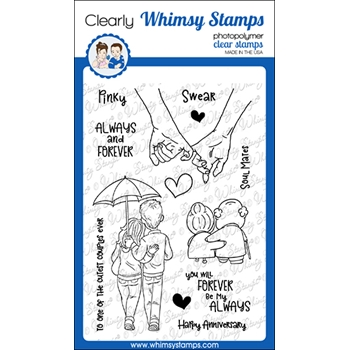 Whimsy Stamps ALWAYS AND FOREVER Clear Stamps CWSD357