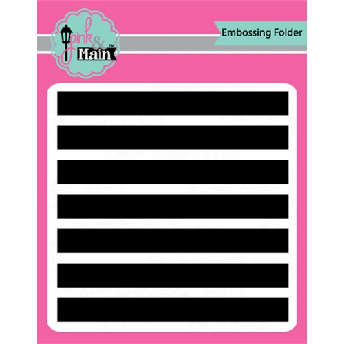 Pink and Main WIDE STRIPES 6x6 inch Embossing Folder PMT006 Preview Image