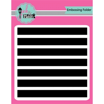Pink and Main WIDE STRIPES 6x6 inch Embossing Folder PMT006