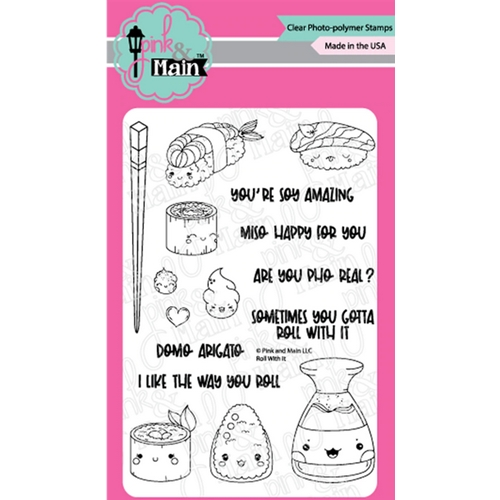Pink and Main ROLL WITH IT Clear Stamps PM0439 Preview Image