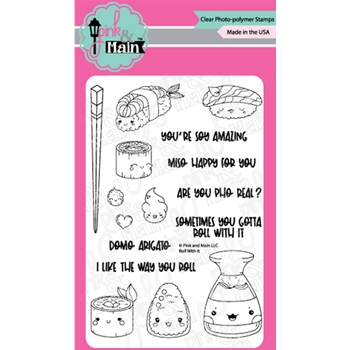 Pink and Main ROLL WITH IT Clear Stamps PM0439