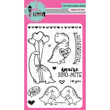Pink and Main RAWR Clear Stamps PM0437